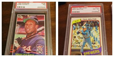 An example of graded cards.