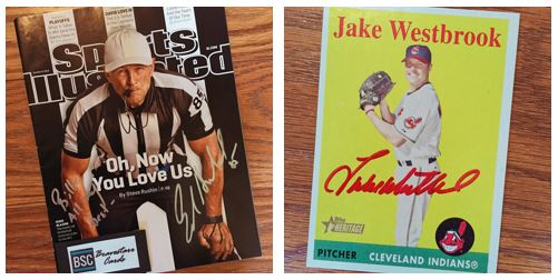 Examples of different autograph mediums.