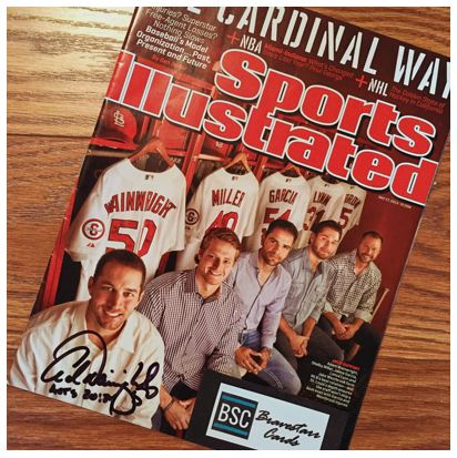 Adam Wainwright TTM Sports Illustrated