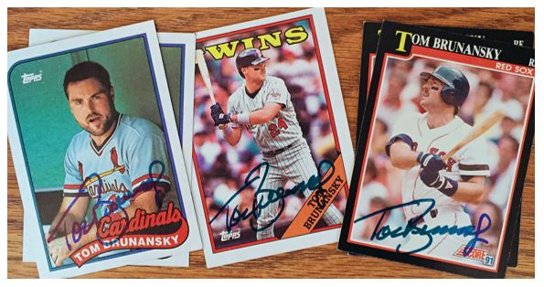Tom Brunansky TTM Success
