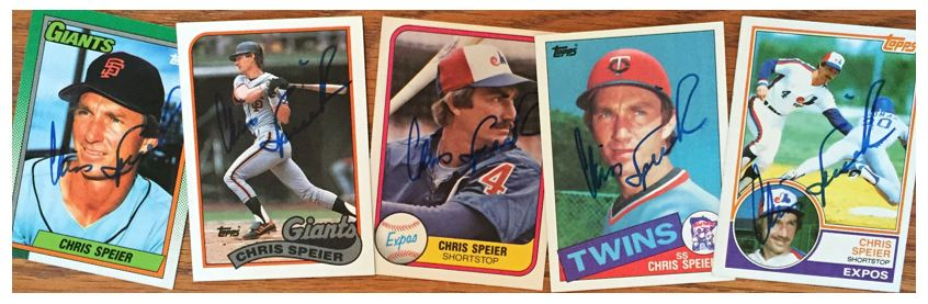 Chris Speier TTM Success