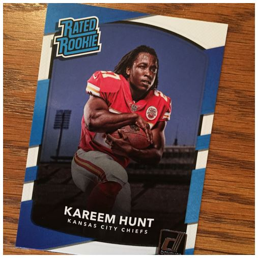 2017 Donruss Football Kareem Hunt