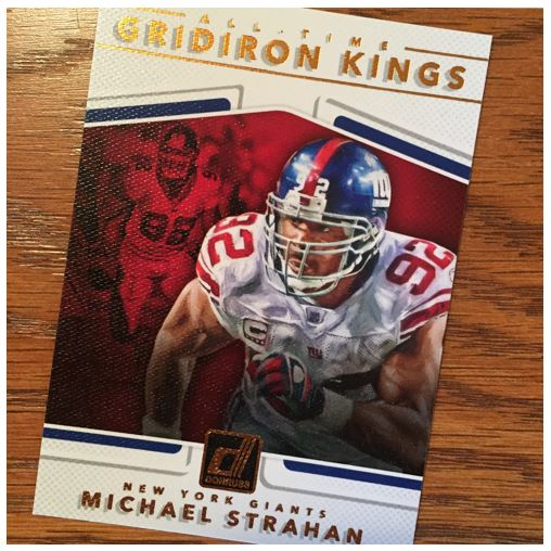 2017 Donruss Football Strahan Gridiron Kings