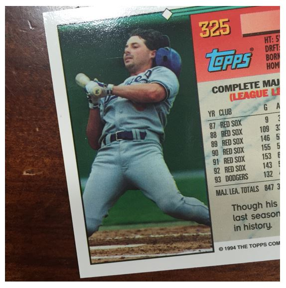 Card Thoughts Baseball Failure In 4 Cards From 1994 Topps