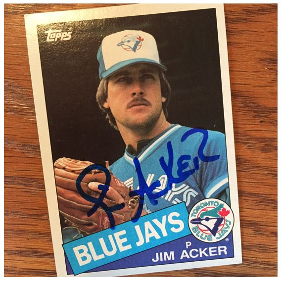 Jim Acker TTM Success