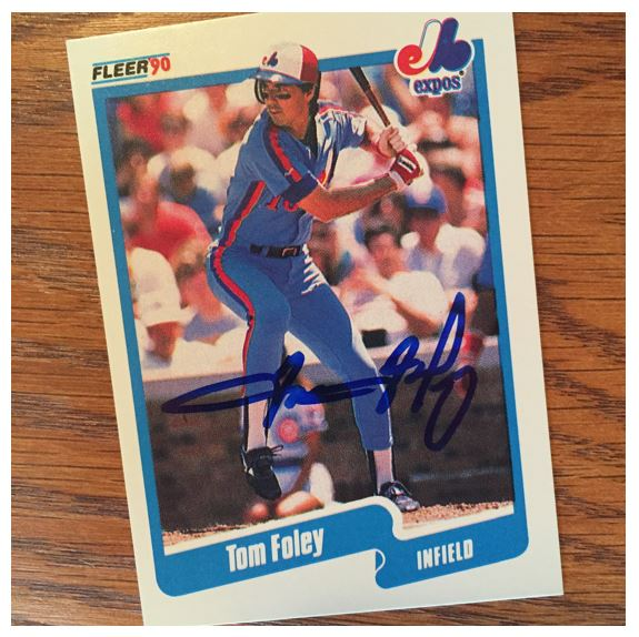 Tom Foley TTM Success