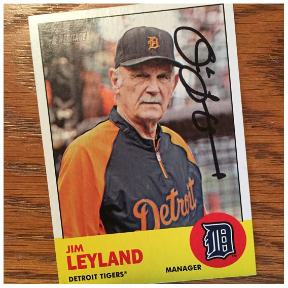 Jim Leyland TTM Success