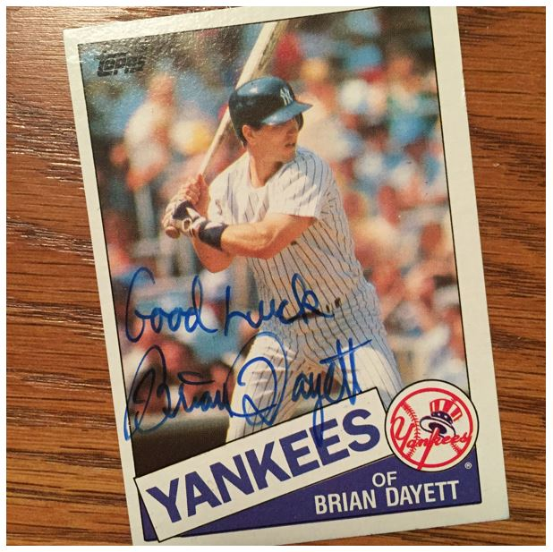 Brian Dayett TTM Success
