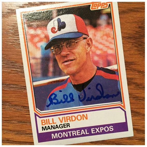 Bill Virdon TTM Success
