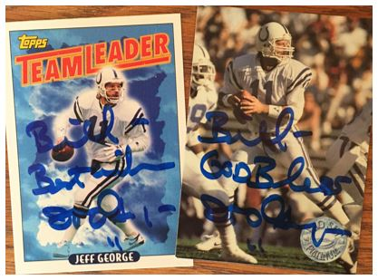 Jeff George TTM Success
