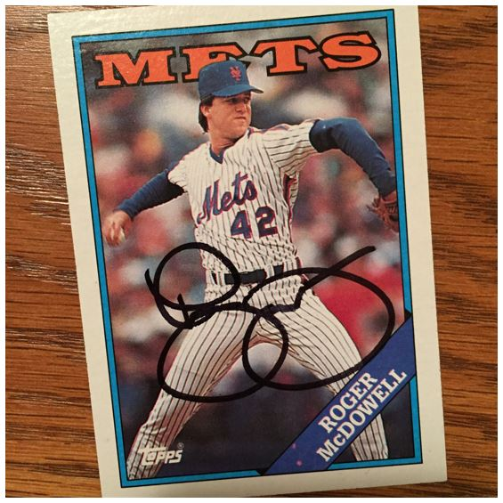 Roger McDowell TTM Success