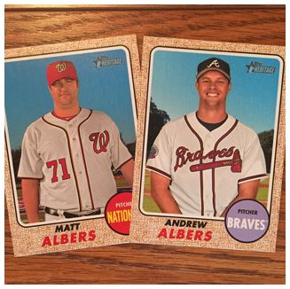 2017 Heritage High Number Albers Cards