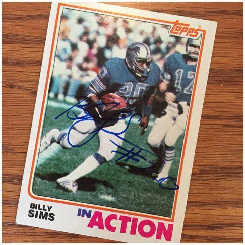 Billy Sims TTM Success